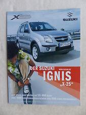 SUZUKI IGNIS Giubileo modello x-25 - prospetto brochure 09.2004