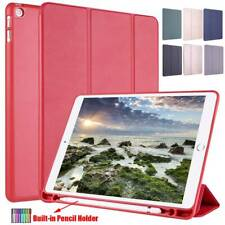 "iPad 10.2"" 7th Gen 5th 6th /Air/Mini/Pro Leather Smart Case Cover Pencil Holder"