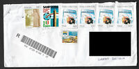 Italy 2017 Forgery Forged Stamps Postally Used Registered Cover To Great Britain