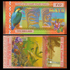 South Pacific States, 10 Dollars Maui Hawaii, USA 2015, Polymer, UNC