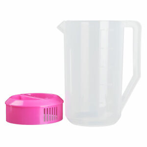 Large Capacity Measuring Water Pitcher Jug Container w/Leak-proof Lids For Juice