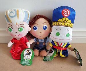 3 X Legends Of Oz Dorothys Return China Princess, Dorothy & Marshal Mallow Plush