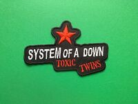 HEAVY METAL PUNK ROCK MUSIC SEW ON / IRON ON PATCH:- SYSTEM OF A DOWN TOXIC TWIN