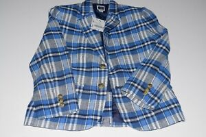 JANIE AND JACK New w/Tags Boys Plaid Linen Suit Size 5