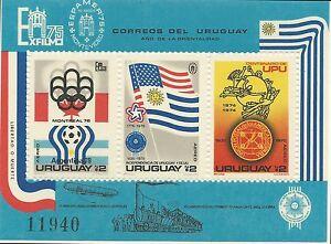 Uruguay 1975 - Sports World Cup Soccer Summer Olympics UPU - Sc C418a MNH