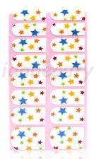 NAIL ART STICKER  DECAL DESIGN FOR NAILS 16 WRAPS COLOUR MIX  STAR