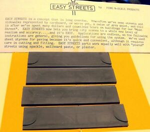 """N SCALE: """"EZ STREETS"""" - 4 - 35' Commercial Driveways Sections - FNA-3005"""