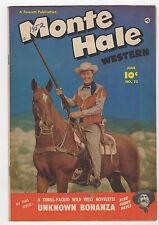 MONTE HALE WESTERN  #73  FAWCETT COMICS 1952  GABBY HAYES  SHARP COPY
