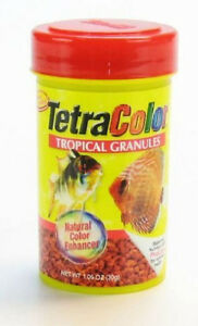 TETRA COLOR BITS TROPICAL GRANULES 1.06 OZ FISH FOOD COLORBITS. FREE SHIP TO USA