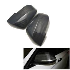 2PCS Right & Left Carbon Fiber Door Side Mirror Covers Shells For BMW 2009-2014