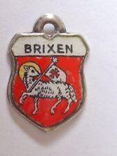 Escudo de plata vintage Brixen Austria esmalte encanto de viaje