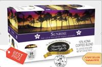Hawaiian Isles Kona Coffee  SUNRISE DARK K-Cups Single Serve Brew Pods Keurig*