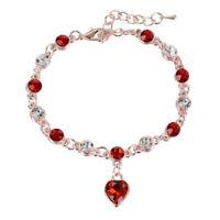 Elegant Women Ocean Heart Blue Crystal Rhinestone Bangle Bracelet Jewlery New