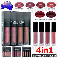New Brand BEAUTY Matte Mini Liquid Lipstick 4IN1 Set 5 Shader Sexy GN