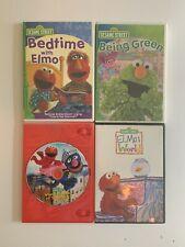 Elmo Sesame Street DVD lot 4 Elmo DVD's Being Green Bedtime Songs Elmo's World