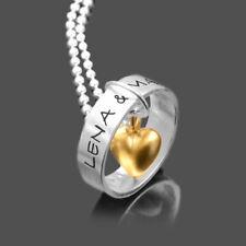 Silberkette Gravur LIEBESRING 925 Silberschmuck Partnerschmuck individuell Herz