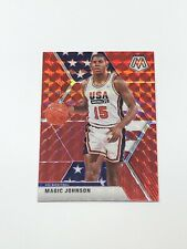 MAGIC JOHNSON 2019-20 Panini Mosaic USA Red Prizm Refractor SP Lakers