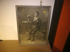 """Vintage Framed B&W Picture Of Young Boy's First Communion circa 1930 17"""" x 13"""""""