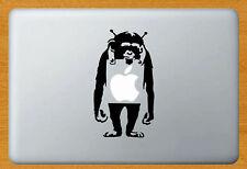 Banksy Monkey Vinyl Sticker Decal Laptop Macbook Mac Decor Black