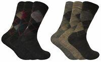 3 paires homme fines chaudes fantaisie laine chaussettes en gris et marron