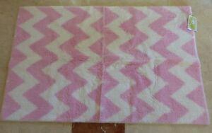 "Circo White & Pink Chevron 30"" x 48"" Rug NIP"