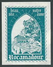 Hotel Beau Site ROCAMADOUR France - vintage luggage label