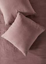 NEW Anthropologie Stitched Linen EURO Sham Rose