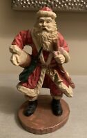 """VINTAGE THC 1994 ~ SANTA'S COLLECTION ~ 10"""" HAND CRAFTED RESIN SANTA with CANE"""