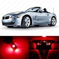 10 x Red LED Interior Light Package For 2003 - 2008 BMW Z4 E85 E86 + PRY TOOL
