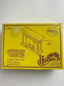 Dollhouse Miniature Americana Flickering Fireplace (12 Volt) by Houseworks
