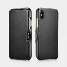 iPhone X Leather Case Real Luxury Black