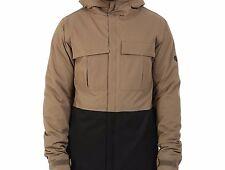 686 Monkier Snowboard Jacket (L) Tobacco Herringbone Denim Colorblock