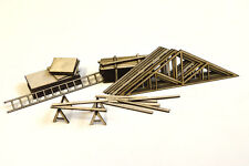 LASER CUT TIMBER YARD BUILDING SITE ACCESSORIES HO SCALE MODEL RAILWAY LX049-HO