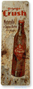 TIN SIGN Orange Crush Soda Cola Drink Kitchen Metal Decor B579