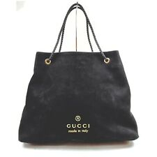 Gucci Tote Bag  Black Suede Leather 1408014