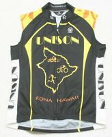 Canari Cycling Jersey Shirt Kona Hawaii Unison Black Yellow Biking Sleeveless