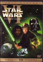 ✅ Star Wars VI Return Of The Jedi DVD (1) Disc Remastered Version Full Screen