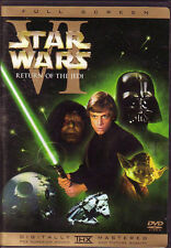 Star Wars VI Return Of The Jedi DVD (1) Disc Remastered Version Full Screen