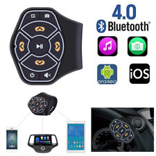Car Steering Wheel Bluetooth Hands-free Multimedia Button Remote Control+Battery
