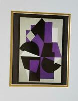 """Victor Vasarely """"Kiruana"""" Matted Offset Color Lithograph 1971"""