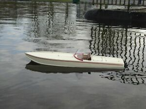 H.A.Kits Ski boat, Wooden model boat kit. 530mm long.