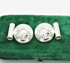Sterling Silver Cufflinks Art Deco Clay Hunting Shooting Shotgun gift #R749