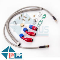 Universal Turbo Oil Line Kits Feed Return Drain Line T3 T4 T70 T66 T25 T28