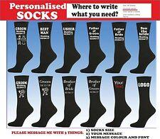 Personalised socks your text Birthday Party gift groom/boyfriend/wedding FUNNY