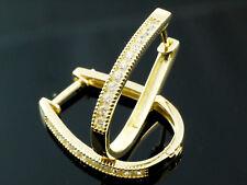 585 Gold Creolen ovale Klappcreolen 25,0 mm 1 Paar mit 20 Zirkonia Steinen