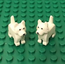 Lego X2 New Terrier Dog / From Collectible Mini Figures Series 16 Pet Animal Lot