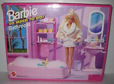1995 NEW NIB Barbie BATHROOM So Much To Do Bath Room Playset Tub Accessories VTG