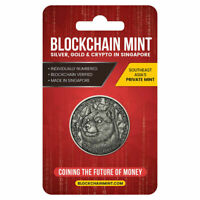 2021 Blockchain Mint DogeCoin Doge Crypto 1 oz Antiqued .999 Silver Coin Round