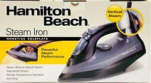 Hamilton Beach Steam Iron 14105 Nonstick Soleplate Anti-Drip Vertical Steam NEW