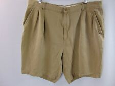 Tommy Bahama Relax 100% Silk Shorts Pleated Front Men's Size 40